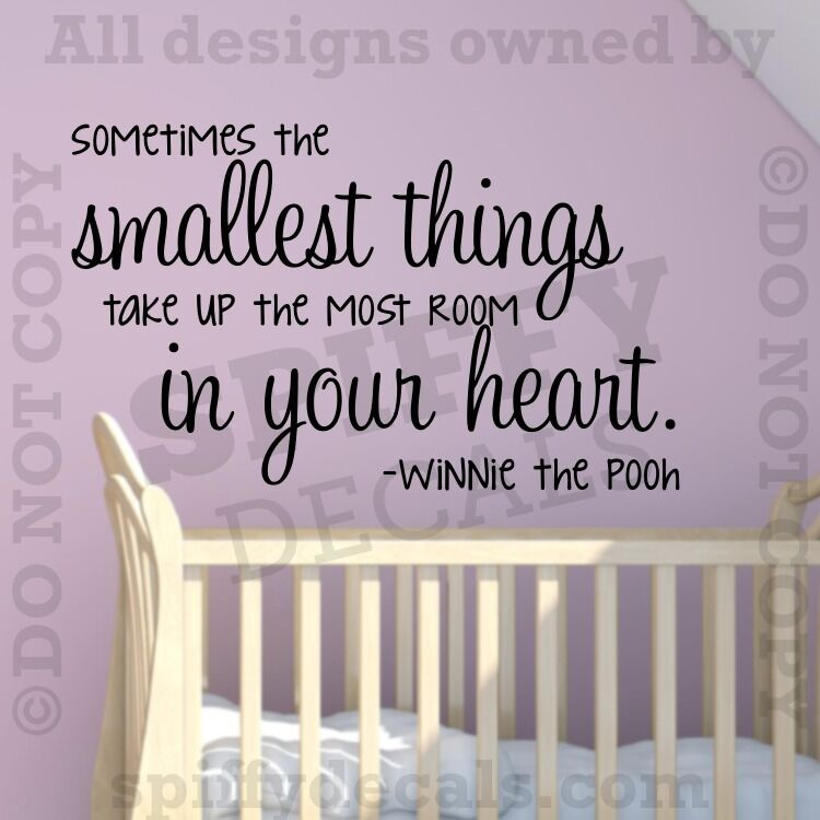 Winnie The Pooh Quotes Sometimes The Smallest Things: Sometimes The Smallest Things Winnie Pooh Quote Vinyl Wall