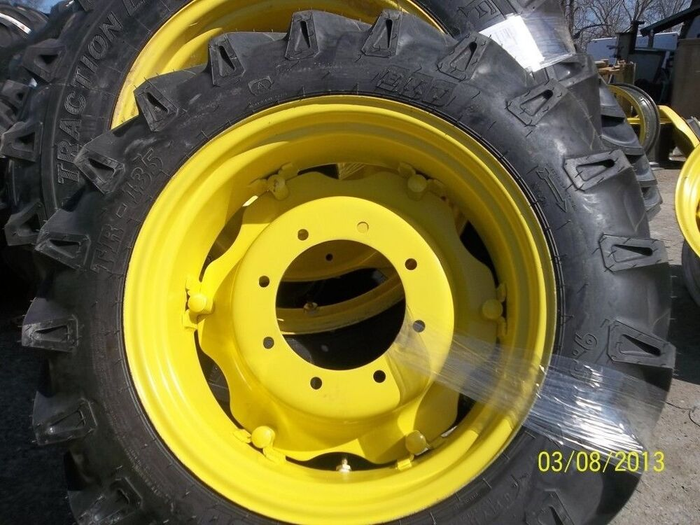 24 Inch Wheels Ford Tractor Parts : John deere e two tires on rims w centers ebay