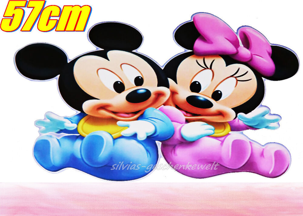 mickey mouse maus minnie maus mouse xl wandsticker wandtattoo deko 57cm ebay. Black Bedroom Furniture Sets. Home Design Ideas