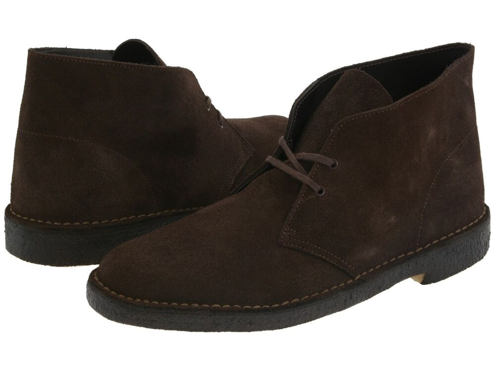clarks desert boot s casual suede shoes brown 31692