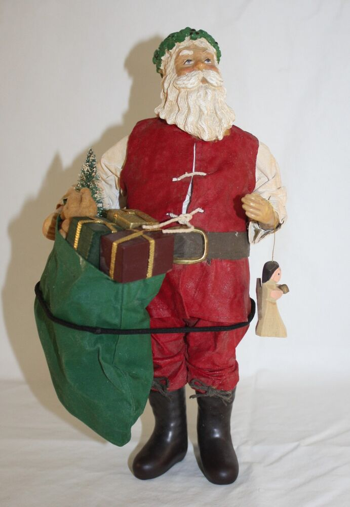 Santa S Bag Of Toys : Clothtique possible dreams santa carrying bag of toys