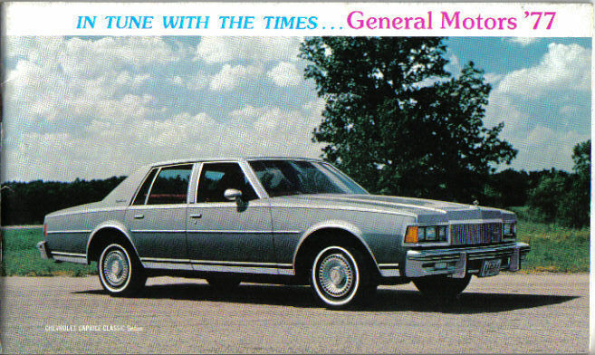 General Motors Chevrolet Pontiac Oldsmobile Buick Cadillac 1977 Usa Brochure Ebay