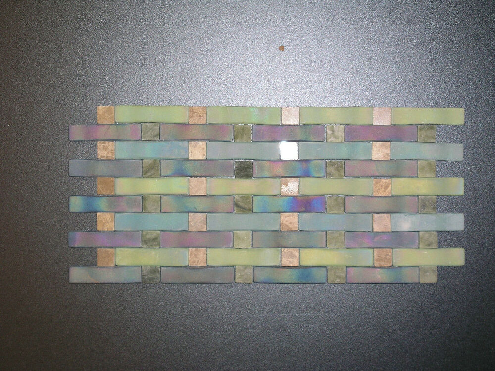 Weave Georgette Aqua Blue Green Backsplash Glass Tile