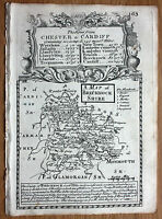 OWEN & BOWEN BRECKNOCKSHIRE original antique county map 1736