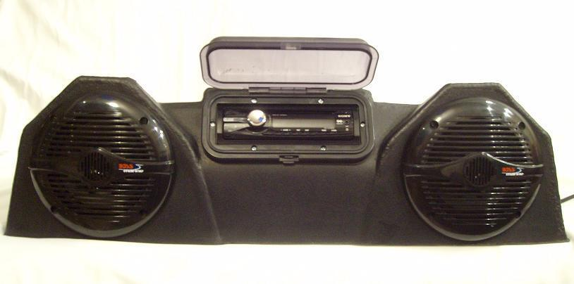 4 Wheeler Stereo System Water Resistant And Durable