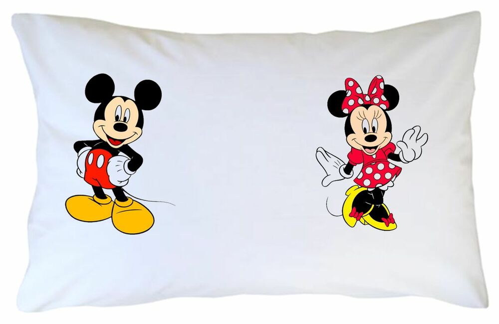 On' On  >> Novelty 'Dream On' PILLOW CASE printed with MICKEY & MINNIE MOUSE   eBay