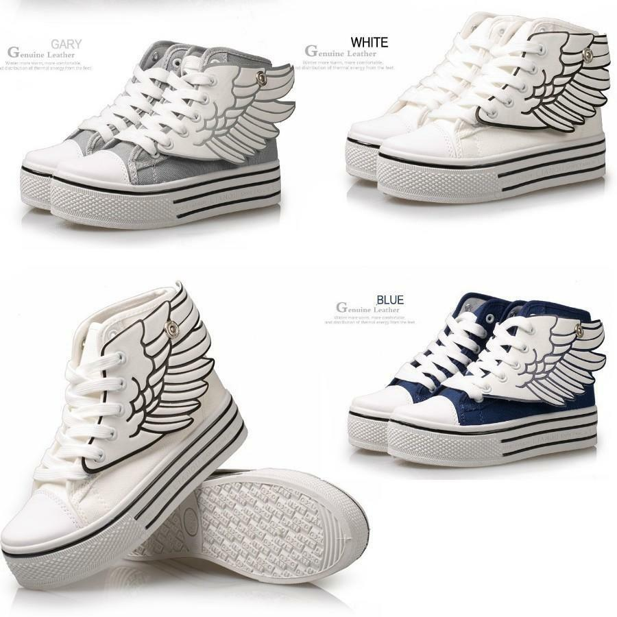 s angle wing school canvas platform sneakers s