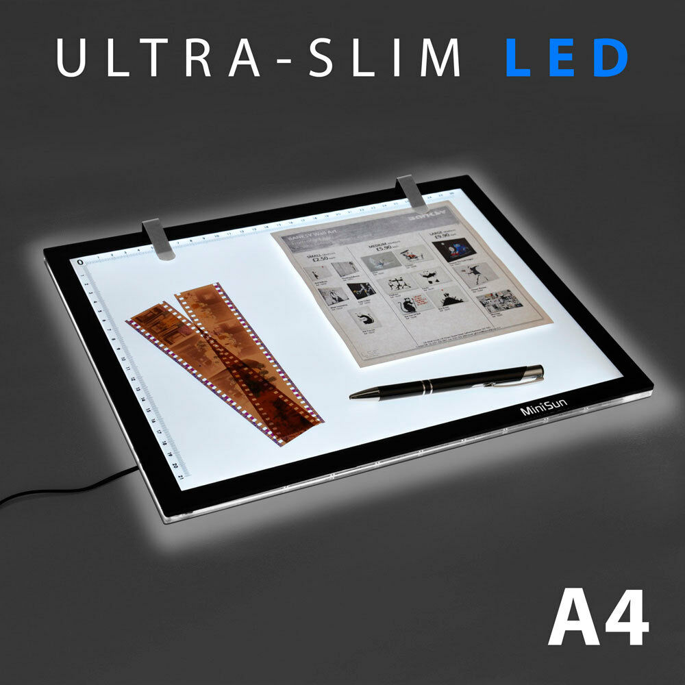 a4 led ultra slim art craft stencil tracing tattoo light box pad board lightbox ebay. Black Bedroom Furniture Sets. Home Design Ideas