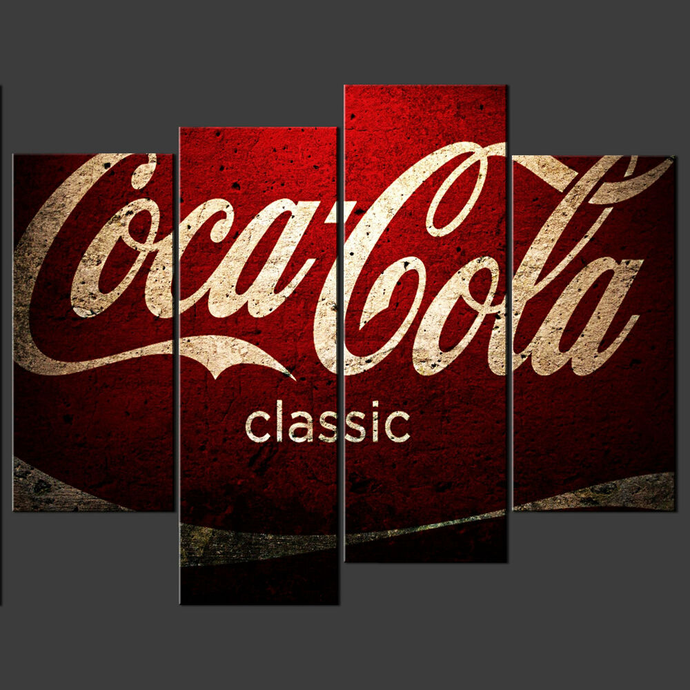 Coca cola vintage cascade canvas print poster modern ready for Best place to buy canvas prints