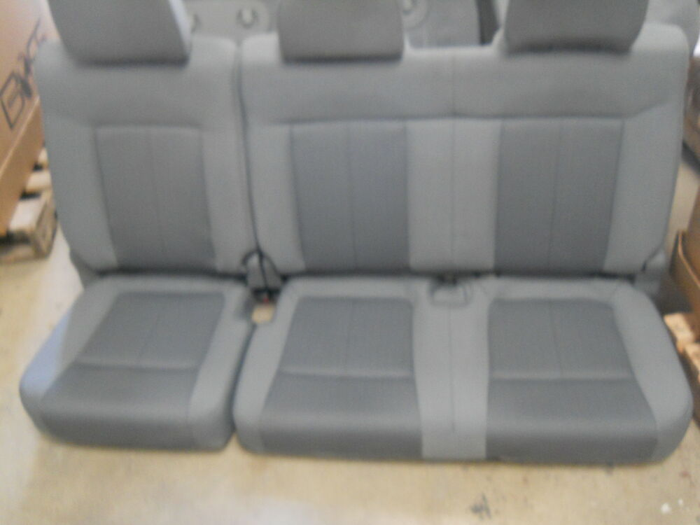 2012 FORD F150 4 DOOR NEW TAKE OFF REAR SEAT GRAY CLOTH | eBay