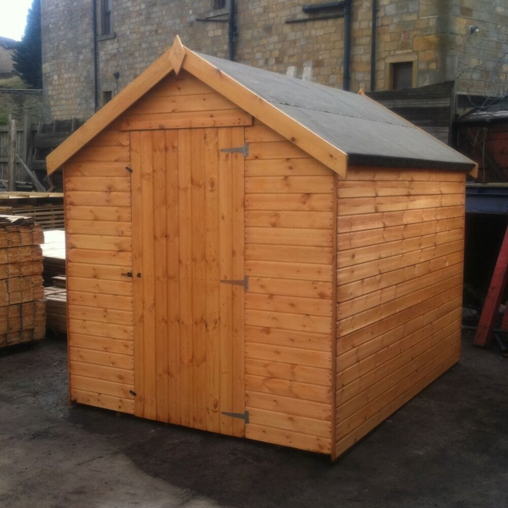 new tongue groove 7ft x 6ft garden wooden shed 7x6 hut treated apex store t g ebaynew