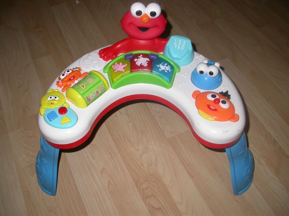 Fisher price elmo sing and teach activity music table baby toddler ebay - Table activite fisher price ...
