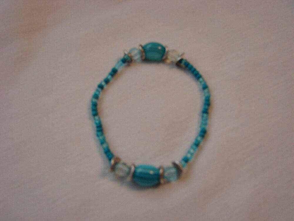 J35 stretch beaded bracelet fashion jewelry 4 styles for Turquoise colored fashion jewelry