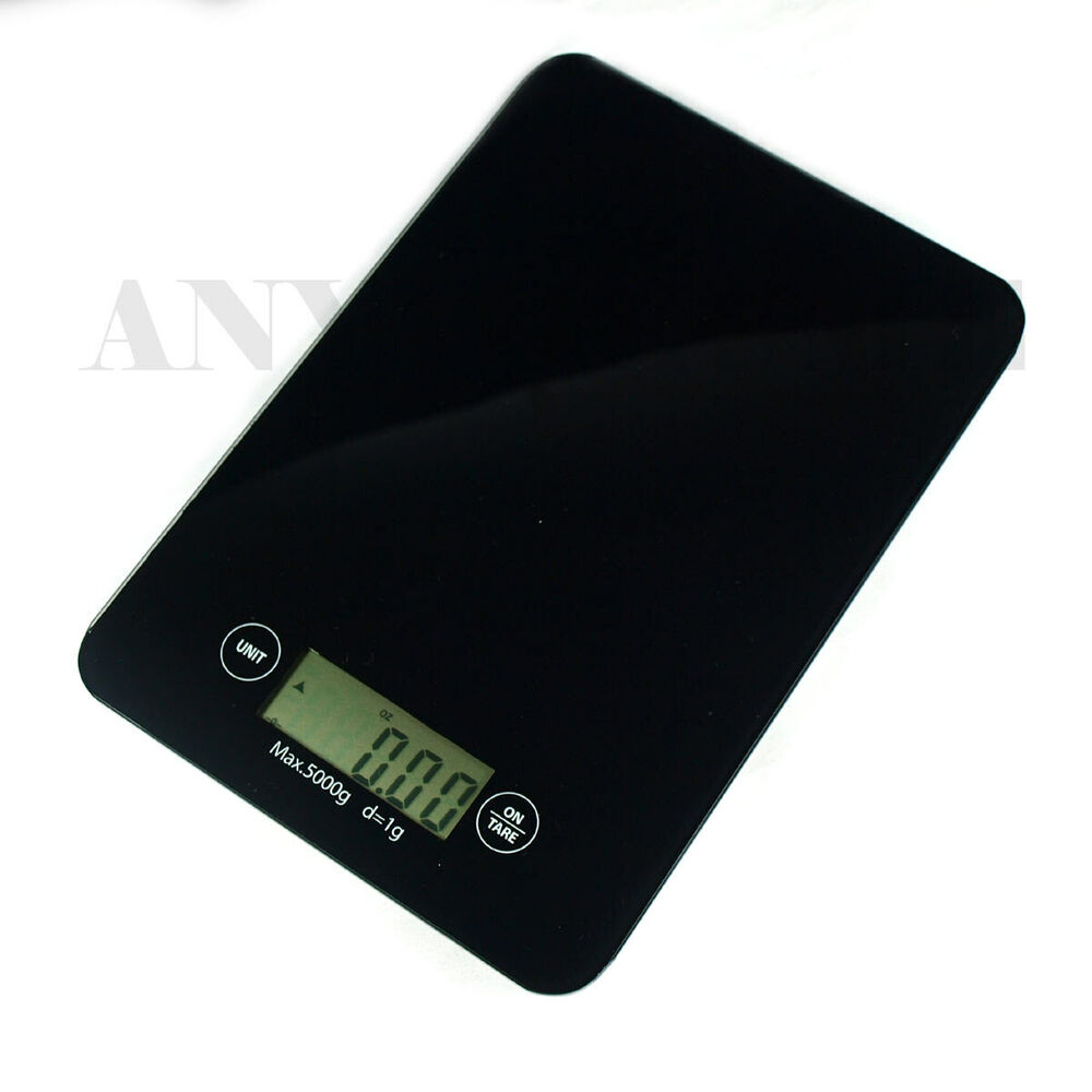 Digital Kitchen Scale: 11 Lbs X 0.1oz Digital Kitchen Scale EK9150 Slim Glass Top