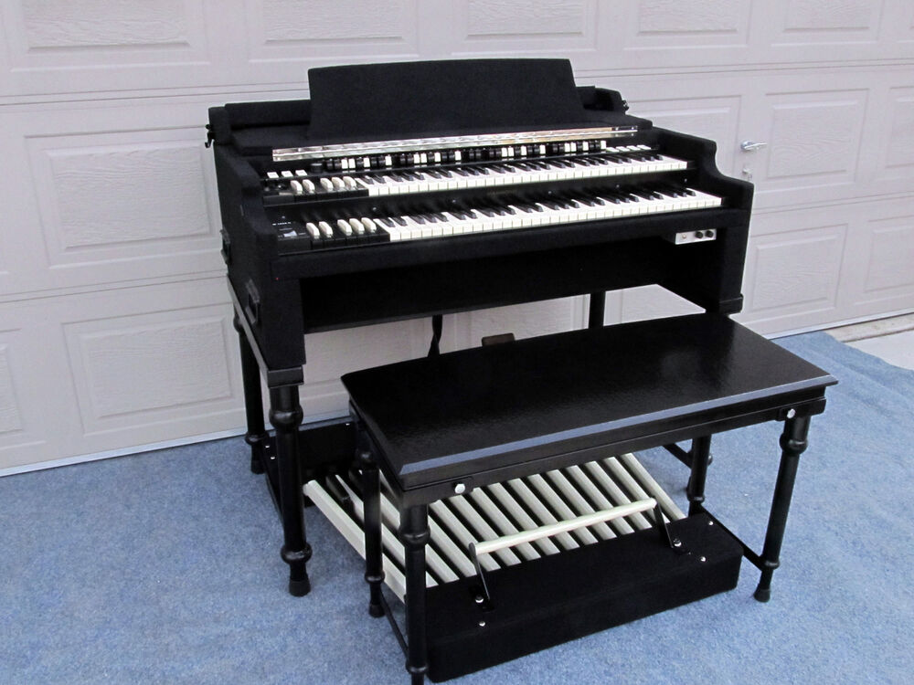 for sale custom built chopped portable hammond b3 organ w seat stand pedals ebay. Black Bedroom Furniture Sets. Home Design Ideas