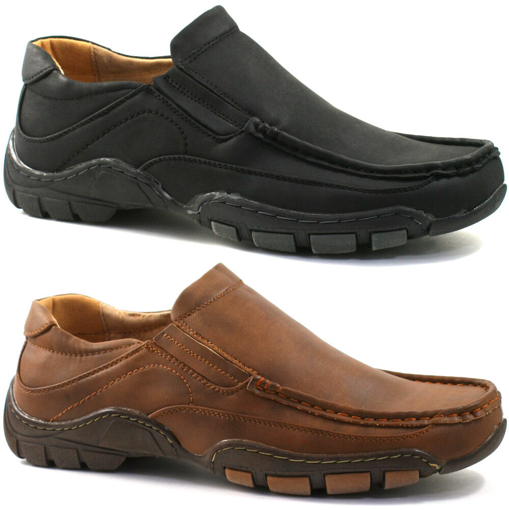 Mens Mocsasin Slip On Shoes