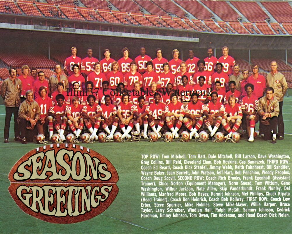 1973 San Francisco 49ers Nfl Football Team 8x10 Photo Ebay