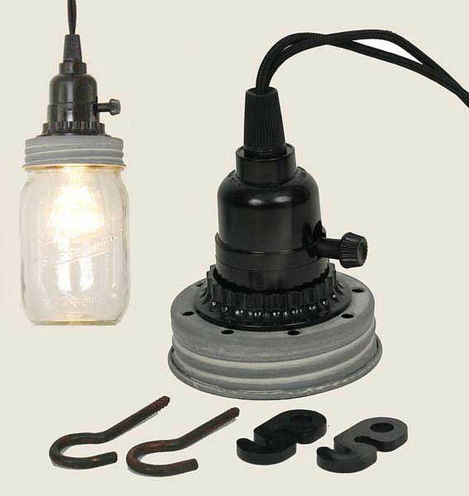 Gra mason canning fruit jar industrial pendant light lamp for Industrial lamp kit