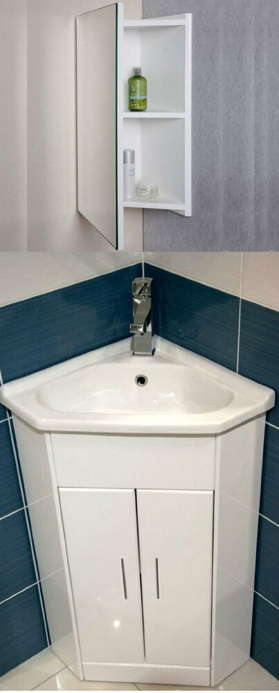 bathroom sink basin white compact corner vanity unit bathroom cloakroom 11279