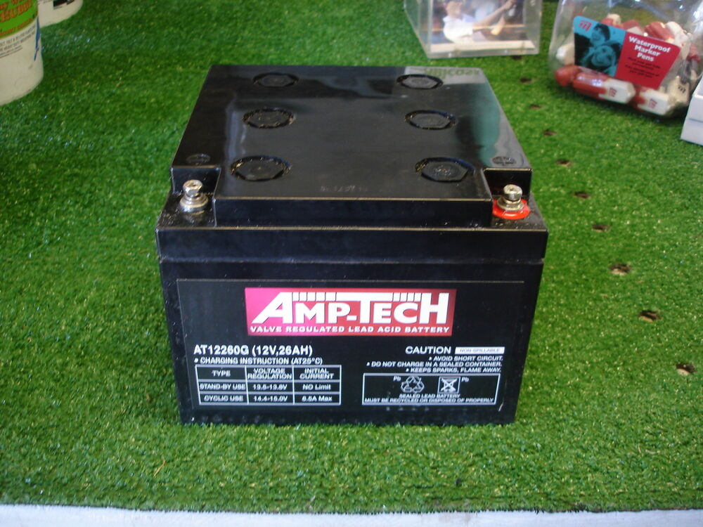 amp tech deep cycle agm battery 12v 26 ah for golf buggy golf battery agm ebay. Black Bedroom Furniture Sets. Home Design Ideas