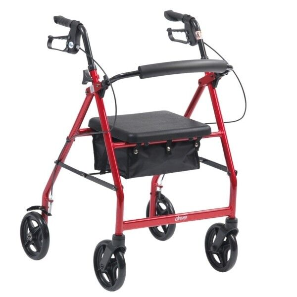 4 Wheel Rollator Walking Aid Mobility Frame With Bag Ebay