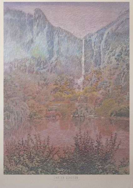 Atmospheric Perspectives - Carston Glason -54x74cm, 80's wall art