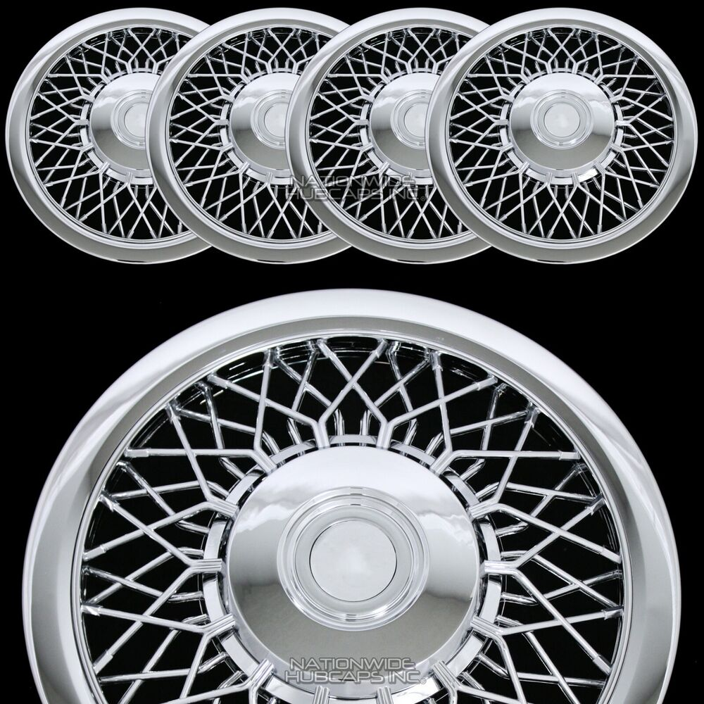 Craftsman Chrome Wheel Covers : New quot chrome spoke hub caps full wire wheel covers rim