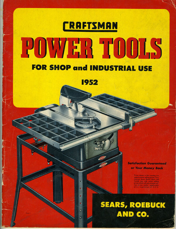 1952 craftsman power tool trade catalog with 47 pages ebay for Who makes power craft tools