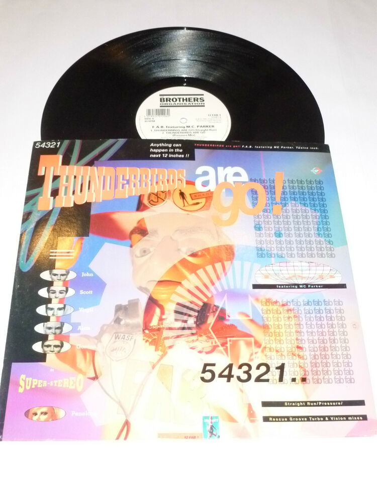 Thunderbirds Thunderbirds Are Go 1990 Uk 4 Mix 12 Vinyl Single