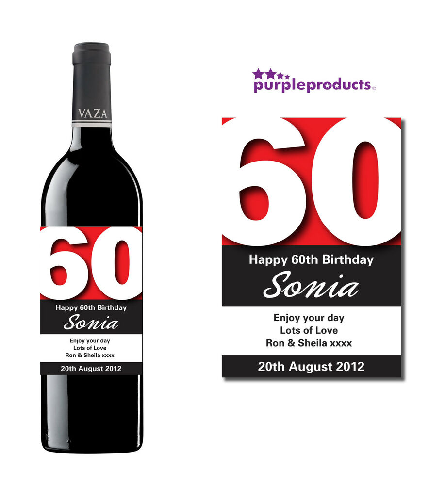 Personalised 60th Birthday Wine Champagne Or Beer Cider