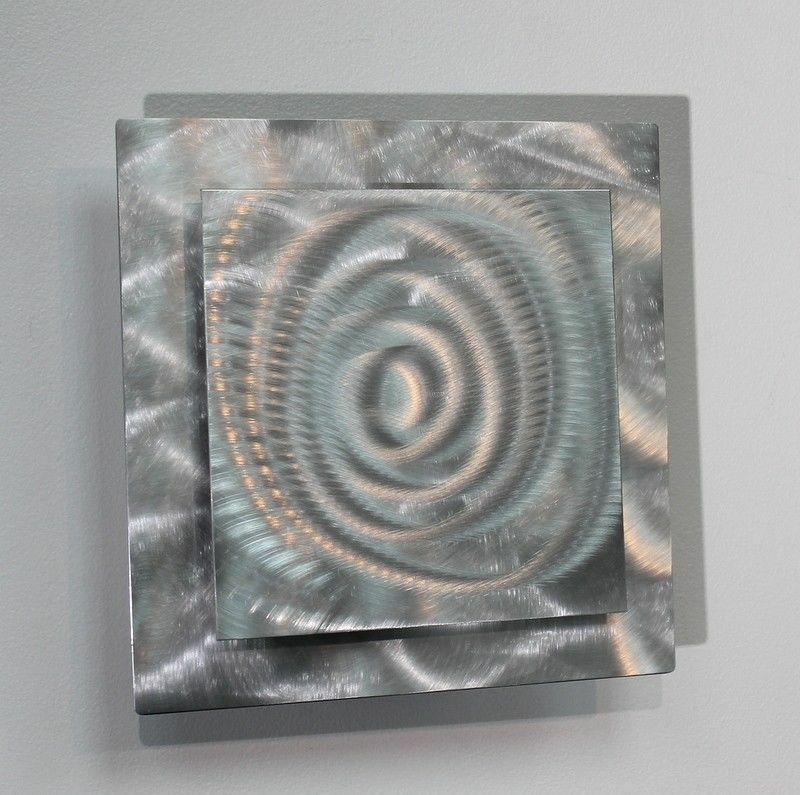 Metal Abstract Modern Silver Wall Art Sculpture Prizm 4 By