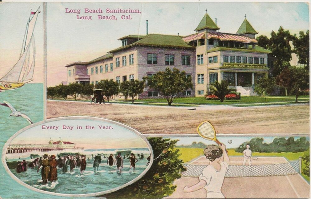 Long Beach Sanitarium Long Beach Ca Postcard Ebay