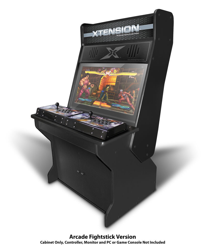Arcade Cabinet Dimensions Sit Down Xtension Arcade Cabinet For Fight Sticks Ebay