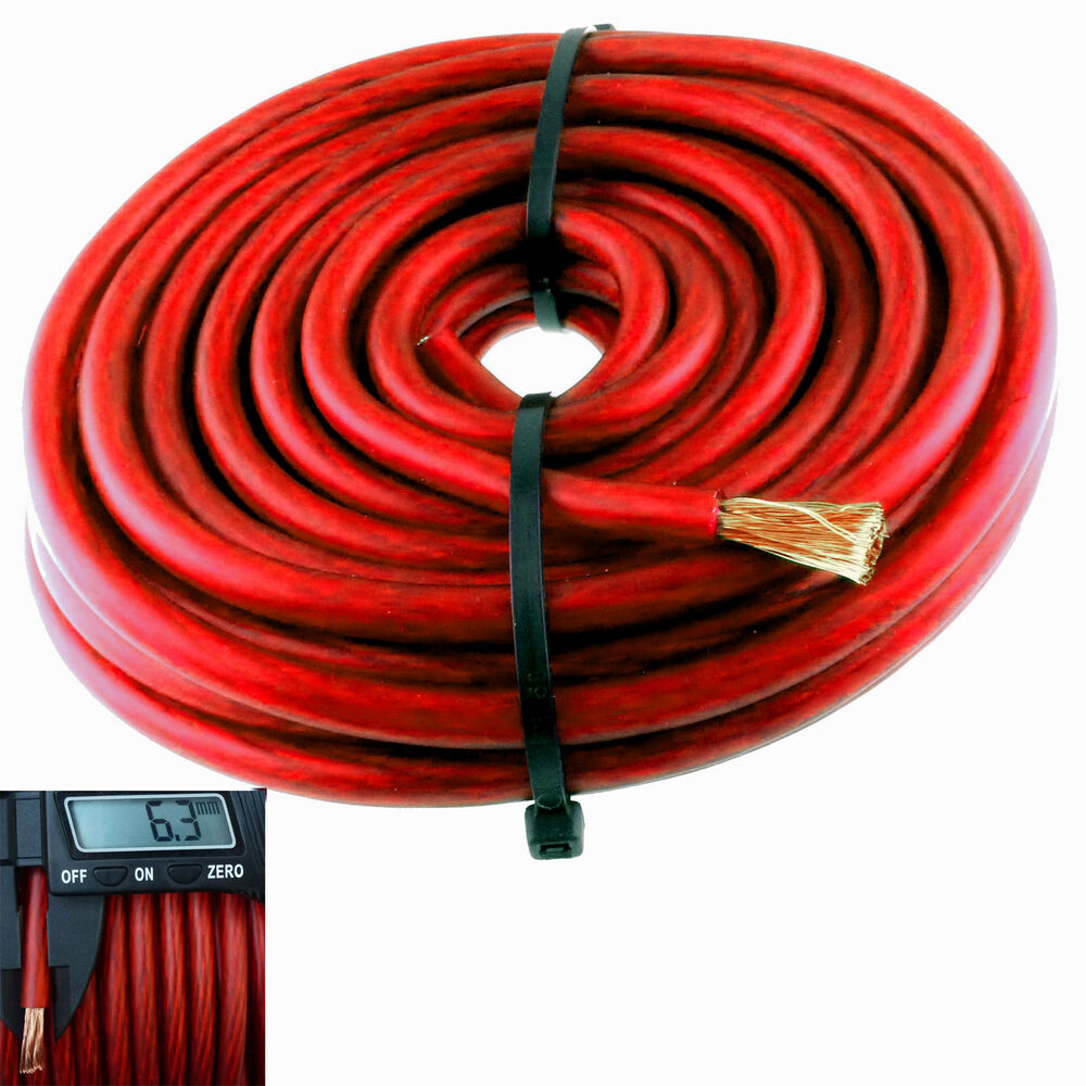 20ft Red 8 Gauge Primary Speaker Wire Or Amp Power