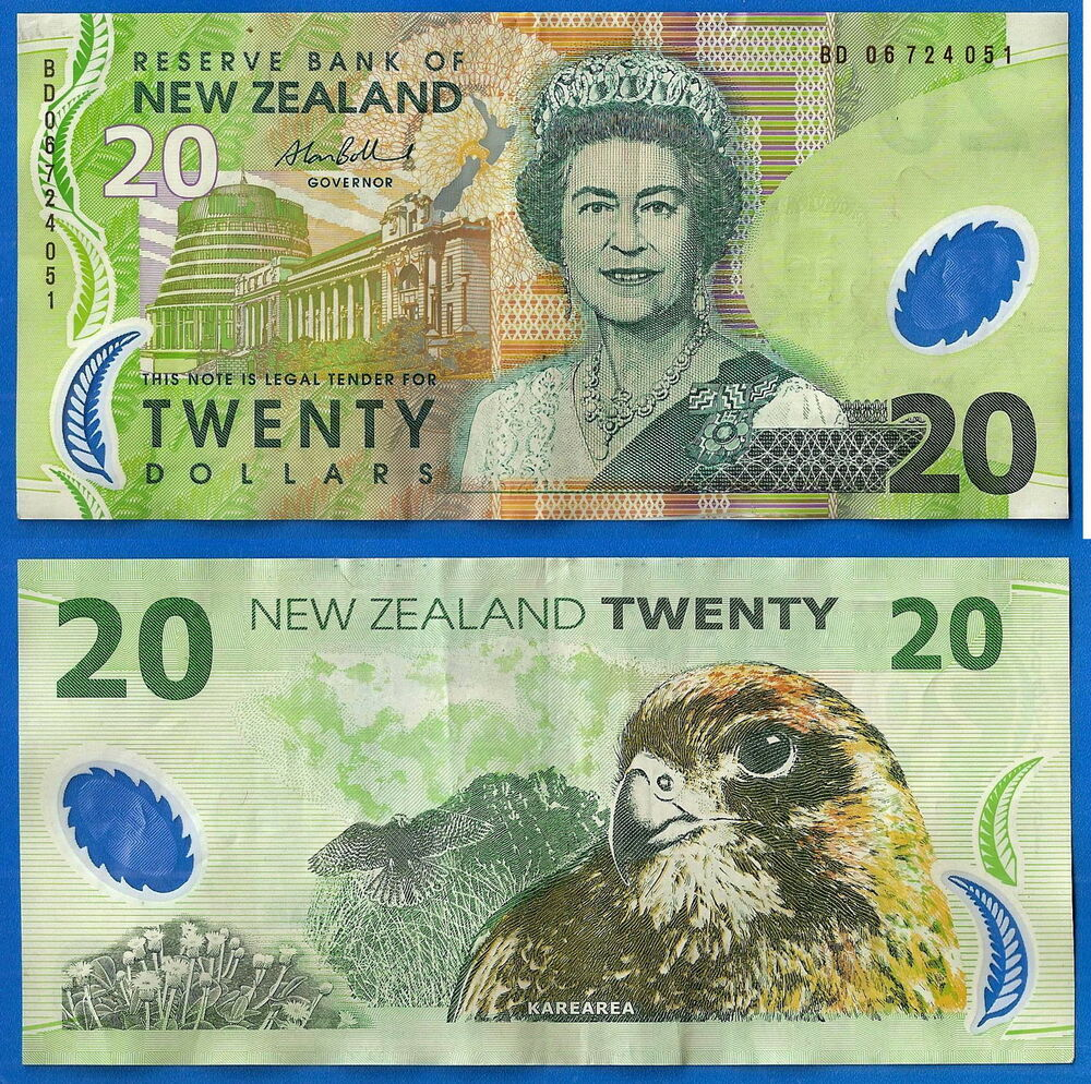 new zealand 20 dollars 2006 animal banknote polymer free. Black Bedroom Furniture Sets. Home Design Ideas