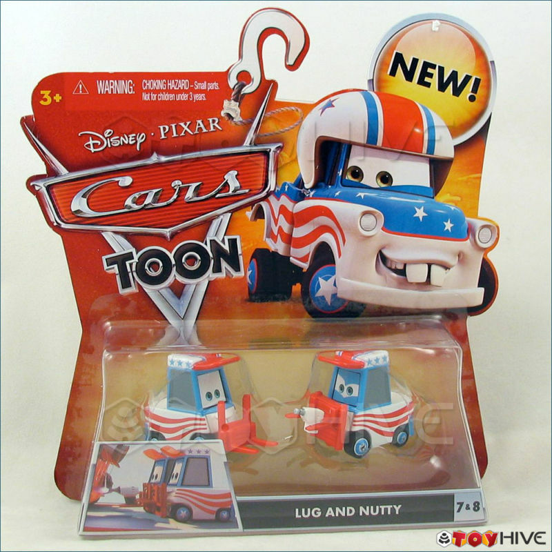 Disney Pixars Cars Toon Lug And Nutty Pittys #7 #8 Mater