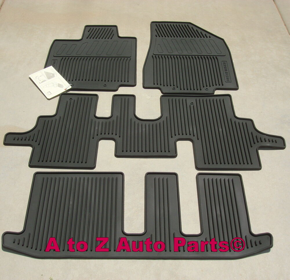nissan all season floor mats new for 2013 2017 nissan pathfinder all season floor mats new. Black Bedroom Furniture Sets. Home Design Ideas
