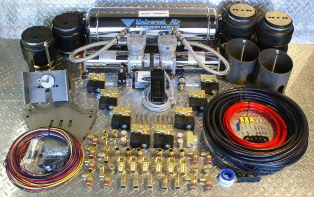 1965 70 complete air ride suspension kit for chevy impala caprice biscane bag ebay. Black Bedroom Furniture Sets. Home Design Ideas