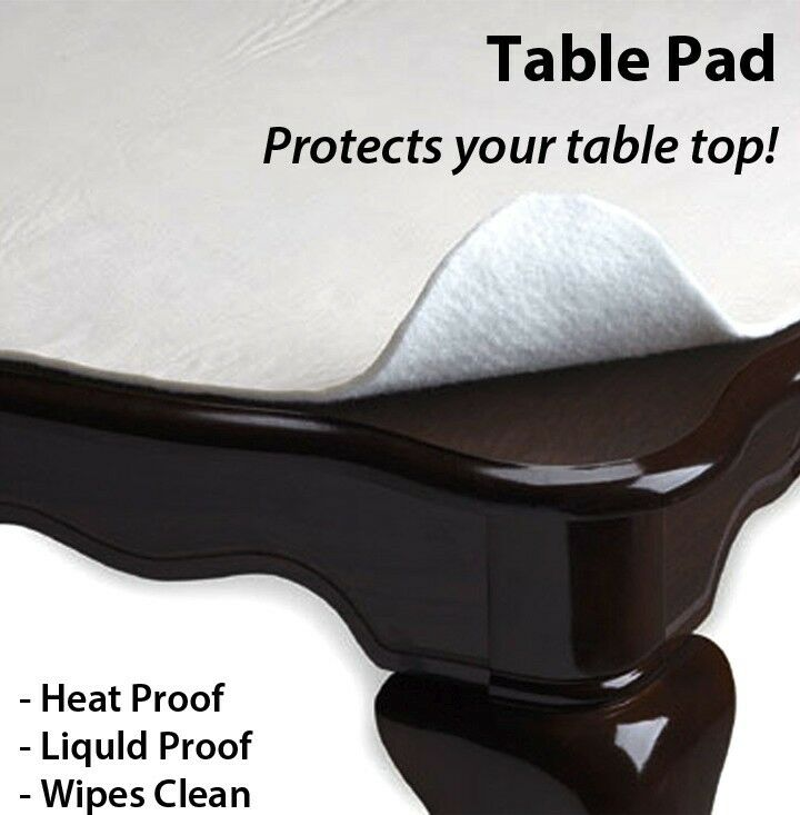 New In Sealed Table Protector Table Pad Vinyl Flannel Back