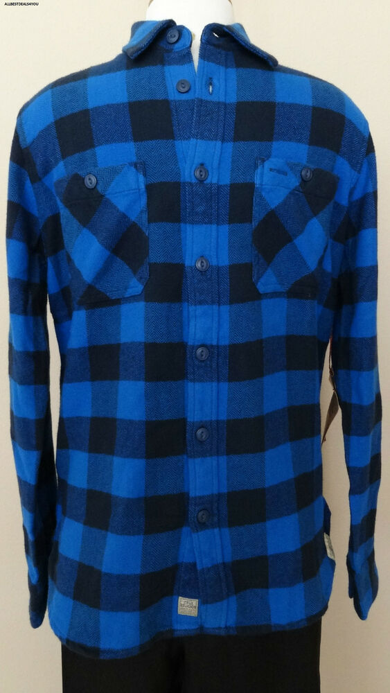 new true religion plaid flannel long sleeve work wear mens