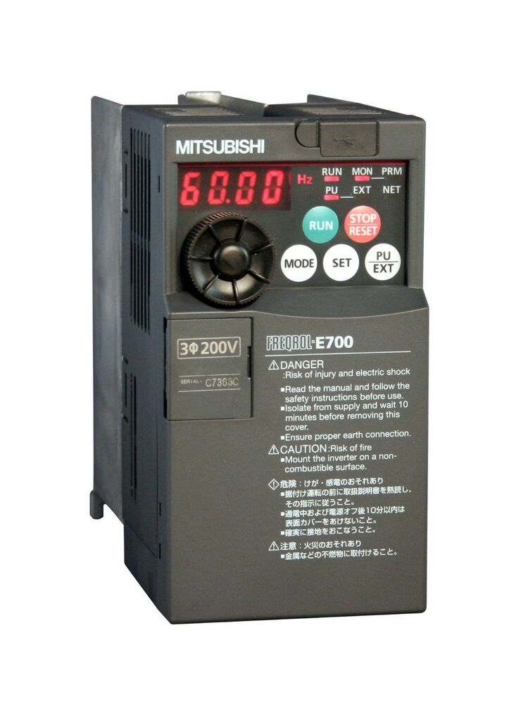7 5hp 460v 3 phase mitsubishi e700 vfd inverter fr e740 for Vfd for 5hp motor