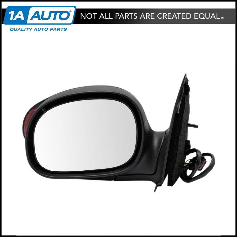 Power side view mirror black w turn signal driver left lh for Power mirror motor repair