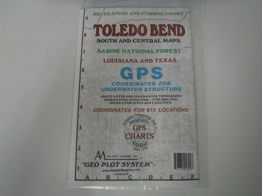 Atlantic mapping toledo bend south geographic gps charts for Toledo bend fishing map