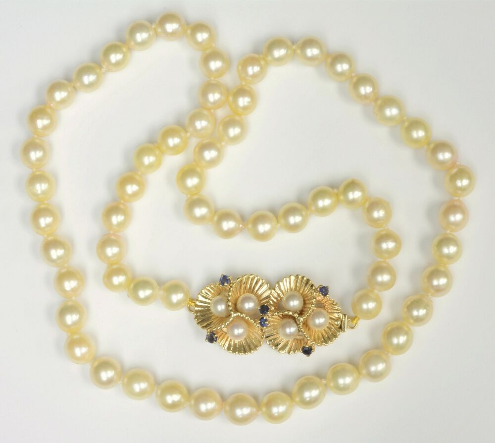 """Necklace With A Pearl: Vintage Cultured Pearl 24"""" Necklace"""