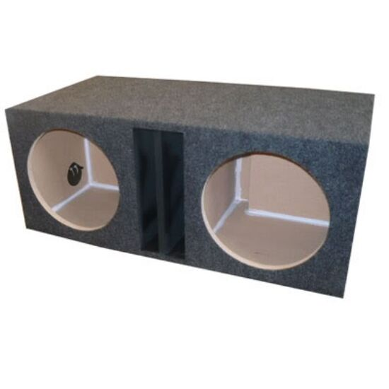 12 inch dual subwoofer sub box enclosure labyrinth vented for Box subwoofer in vetroresina
