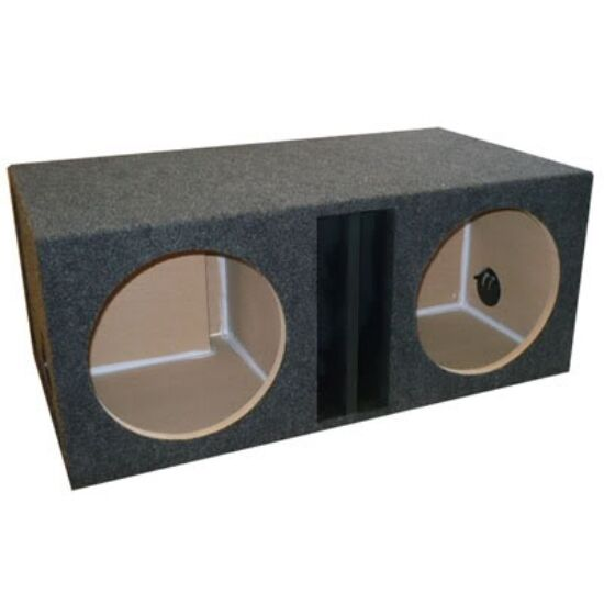 15 inch dual subwoofer sub box enclosure labyrinth vented for Box subwoofer in vetroresina