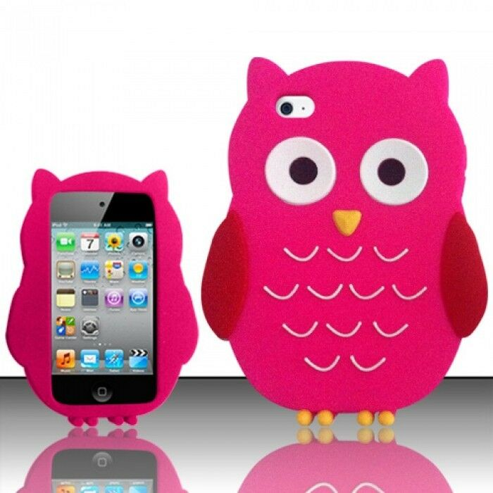 HOT PINK CUTE OWL SOFT SILICONE CASE COVER FOR APPLE iPOD ... Ipod Touch 4th Generation Cases For Girls