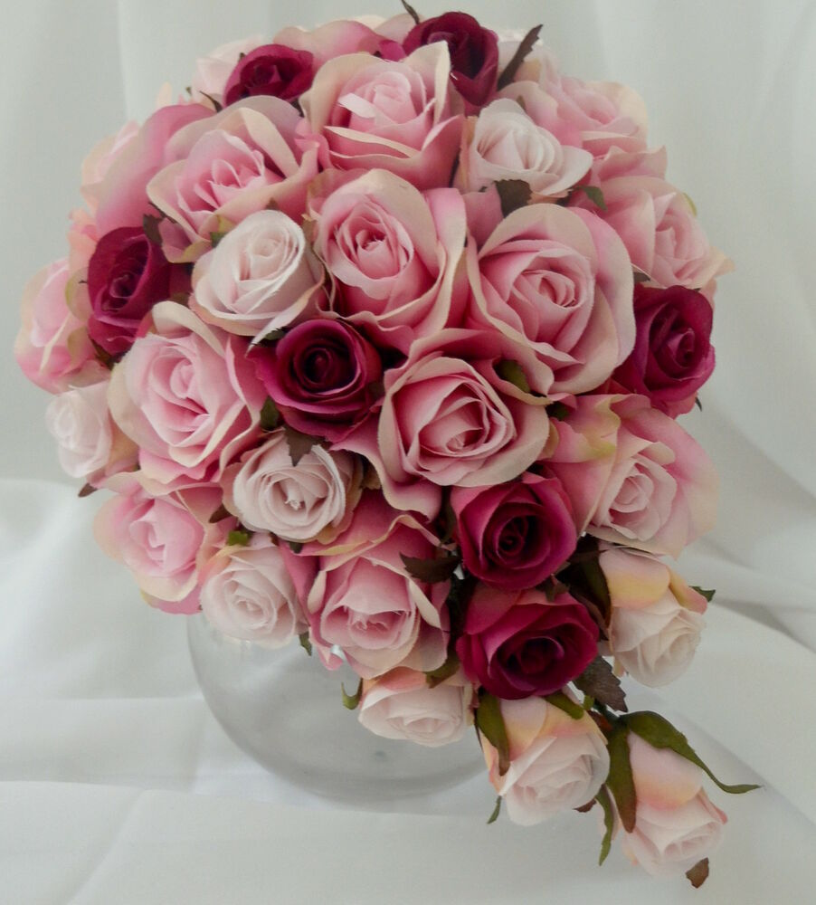 pure pink rose bouquet - photo #28