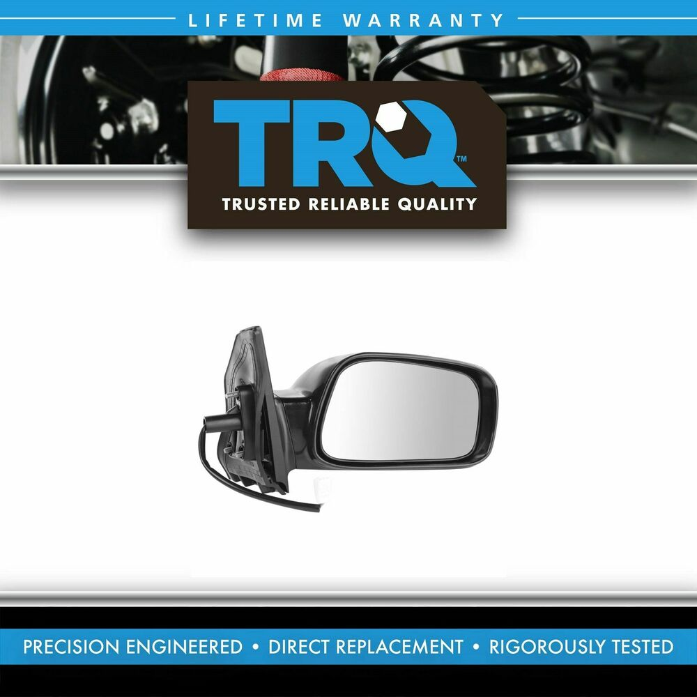 Side view power mirror smooth black passenger right rh for for Power mirror motor repair