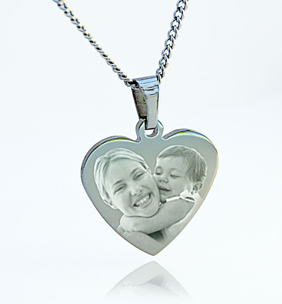 engraved photo pendant personalised with any image and